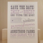 Pennsylvania Save the Date / Custom Printed Hatch Style Band Poster/ Bachelorette/ Bridal