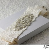 Crystal and Pearl Sash