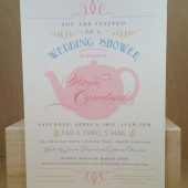 Bridal / Wedding Shower / Tea Party / Girls Day / Valentine Brunch / Lunch / Sip and See / Custom Design