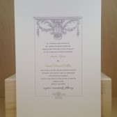 Wedding Invitation / Southern / Vintage Simple Elegant / Marriage / Printed Custom Invitation / Tea Party / Chic Party Card