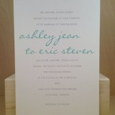 Modern Script / Wedding Invitation Suite / Simple / White Gray and Seafoam / Suite / Traditional Invitation / Custom Design