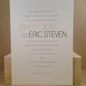Modern Block / Wedding Invitation Suite / Simple / White Gray and Gold / Suite / Traditional Invitation / Custom Design