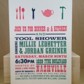 Kitchen and Tool Shower / His and Hers / Southern / Bridal Shower / Preppy and Country Poster Hatch