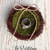 Wedding Ring Pillow, Birds Nest Ring Pillow, Rustic Chic Wedding Decor, Alternative Ring Box