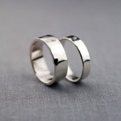 4mm and 6mm Hand Textured Recycled Sterling Silver Bands