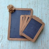 "Rustic Chalkboard Set, 4"" x 6"" and 7"" x 10"", Set of 5, Wedding Signs, Wedding Chalkboard, Chalk Board, Wedding Decor"