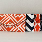 Orange and Navy Modern Colllection