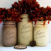 Rustic Fall Mason Jars
