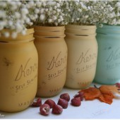 Fall Painted Mason Jars