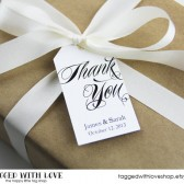 Thank You Custom Wedding Favor Tags - LARGE SIZE
