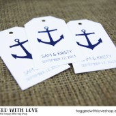 Anchor Nautical Wedding Favor Tags - LARGE SIZE
