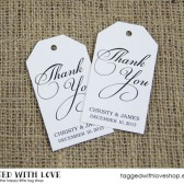 Thank You Wedding Favor Tags - Medium Size