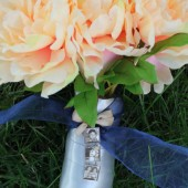 Three Photo Connected Bouquet Charm