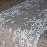 Lace and Burlap Table Runner - Vintage, Rustic, Shabby Chic