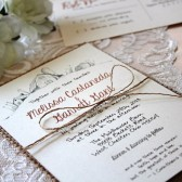 Burlap // Rustic Barn Wedding Invitation Suite