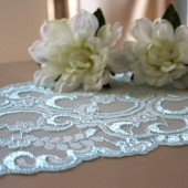 Blue Lace Table Runner // Beach Wedding// Weddings, Home Decor, Rustic, Shabby Chic, Vintage