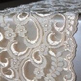 Vintage Peach Lace Table Runner - Weddings, Home Decor, Rustic, Shabby Chic, Vintage