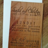 Custom Wedding Invitations, Engraved Wedding Invitations, Wood Wedding Invitations