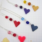 Silver love necklace, fundraiser for marriage equality