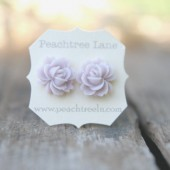Pale Lavender Rose Earrings