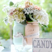 A Pretty Pair Wedding Centerpiece