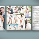 Tripple Canvas with Vows and Center Collage