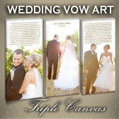 Triple Canvas Wedding Vow and Date Art