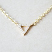 Gold Triangle Pendant Necklace