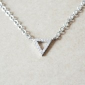 Silver Triangle Pendant Necklace