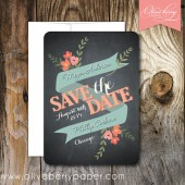 Sweet Floral Save the Date Cards