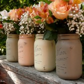 Pumpkin Patch Painted Mason Jars