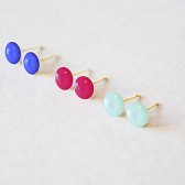 Petite Enamel Earring Post - Color set of 3