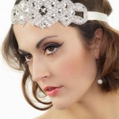 Crystal headband Art Deco