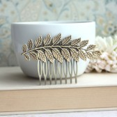 Large Leaf Brass Comb. Greek Leaf Branch Statement Comb.
