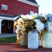 Barn Wedding Painted Mason Jars
