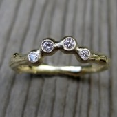 Diamond Arc Twig Wedding Band: Recycled Gold, Canadian Diamonds