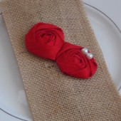 Red Flower Silverware Envelope