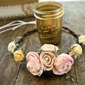 Gold Wedding Favor Mason Jars Half Pint