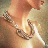 Grey Champagne Pearl Necklace