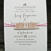 Folk and Woodland Letterpress Invitation