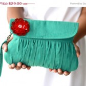 Ultramarine Green Clutch