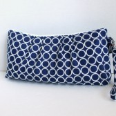 The Catalina Clutch  Circles In Navy