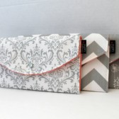 Damask Chevron Dandelion In Grey