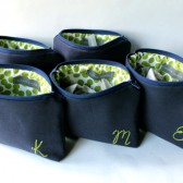 Navy and Green Monogram Bags