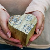 Rustic Ring Bearer Box for Wedding - Handmade floral Eco Boho
