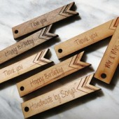 25 - .5 x 3 Custom Wood Tags - Gift Tags - Wedding Tags