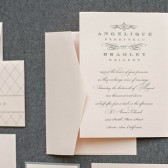Accordian Wedding Invitation Suite - Angelique and Bradley