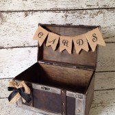 Rustic Burlap Card Box, Burlap Banner, Rustic Winter Wedding Decor