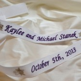 Custom Embroidered Wedding Gown Ribbon