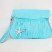 Starfish Blue Clutch
